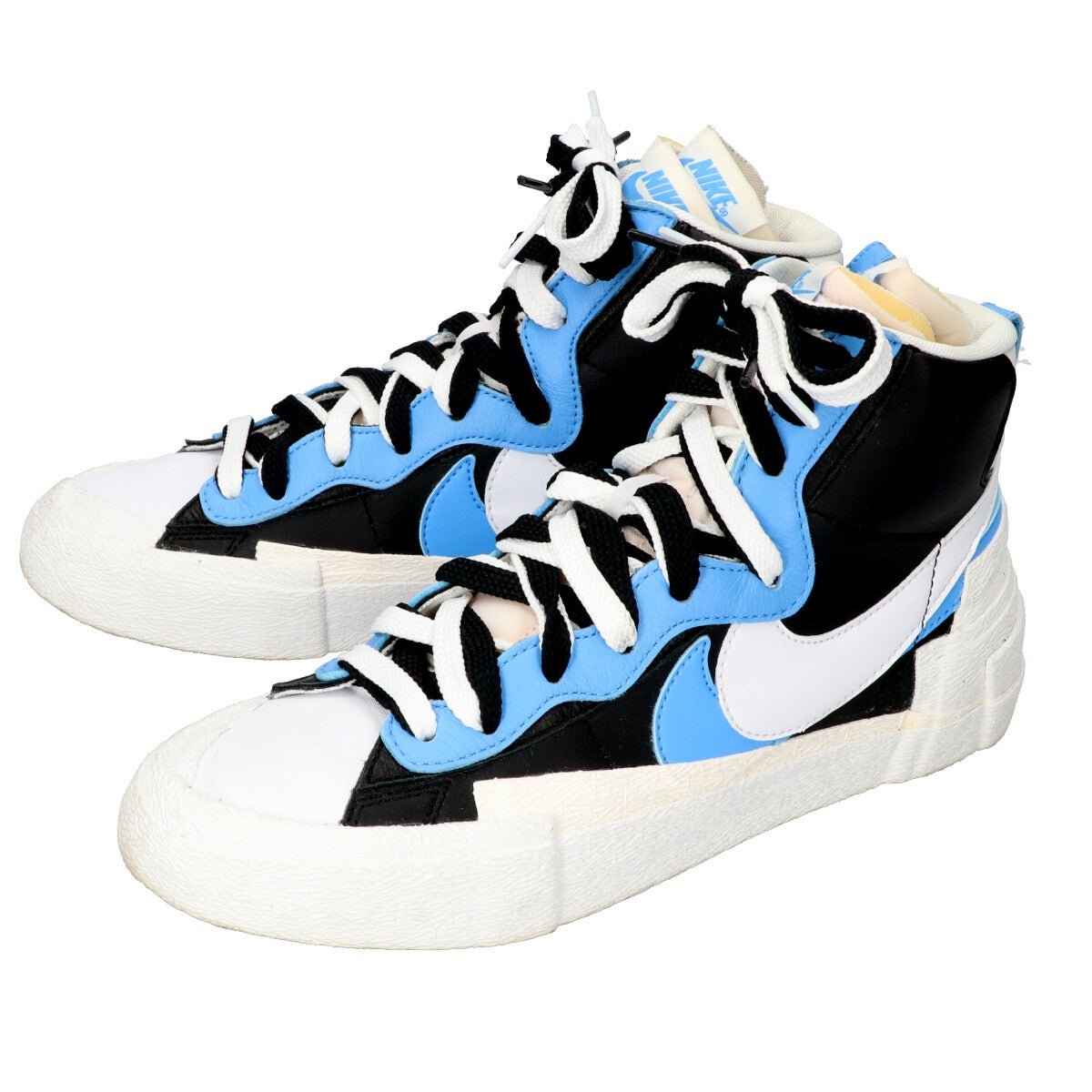 ナイキの×SACAI BV0072-001 BLAZER MID 25cm BLACK/WHITE-UNIVERSITY BLUEの買取実績です。