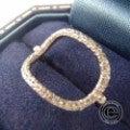 □humハム K18WG et-R10 0.11ctブラウンダイヤ リング指輪13号の買取実績です。