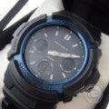 【即決☆】CASIO カシオ G-SHOCK AWG-M100BC-2AJF  Gショック タフソーラー ブラック×ブルー 腕時計 メンズの買取実績です。