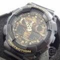 未使用○カシオ G-SHOCK GA-100CF-1A9JF カモフラージュウォッチ アナデジ腕時計の買取実績です。