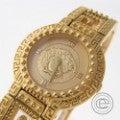 GIANNI VERSACEジャンニ・ヴェルサーチ 7009018 メデューサ ゴールドプレート 2針 クオーツ腕時計の買取実績です。