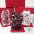 Baccarat バカラ 2607786 LUCKY CAT 招き猫 計3点セット クリア/レッド/レッドオクトゴン クリスタル オブジェの買取実績です。