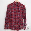 DSQUARED2ディースクエアード シワ加工 コットンチェックシャツ44 レッドの買取実績です。