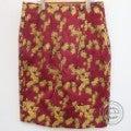 DRIES VAN NOTENドリスヴァンノッテン ジャガード ふくれ織 ゴールド 花柄スカート38 レッド/ゴールドの買取実績です。