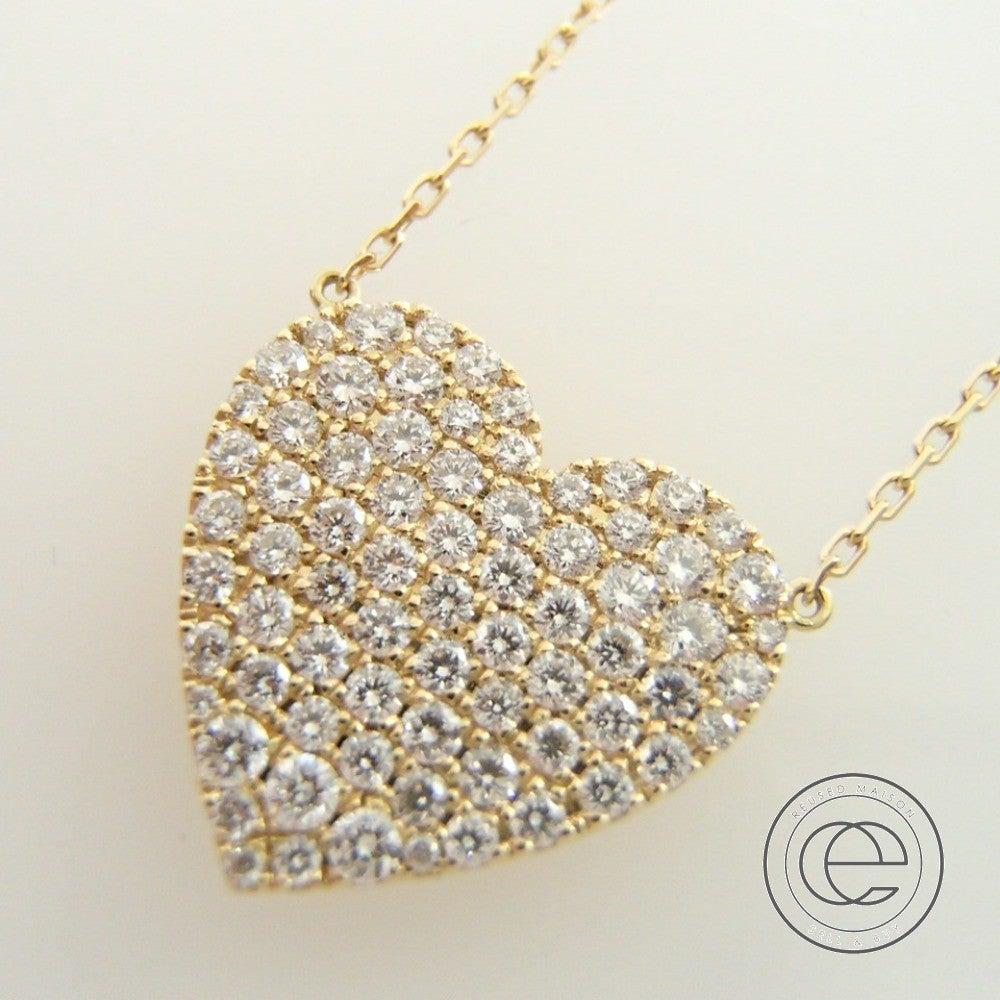 AHKAHアーカー vivian couture vc0986010100 K18YG/ダイヤモンド0.7ct ハートパヴェグランネックレス  イエローゴールド
