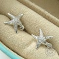 TIFFANY&Co.ティファニー エルサ・ペレッティ PT950 スターフィッシュ ダイヤモンドイヤリング