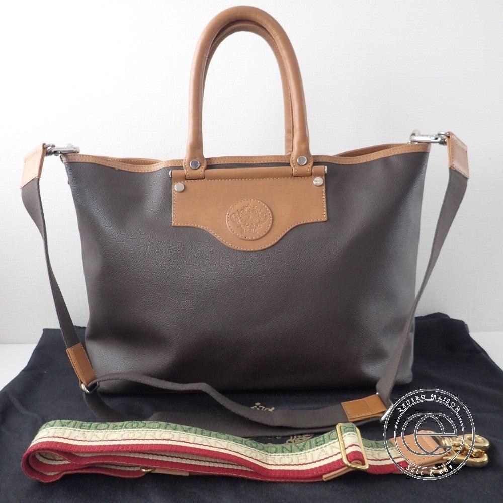 Orobianco オロビアンコ 2WAYレザートートバッグ ブラウンの買取実績です。