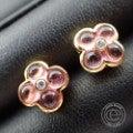 Ponte Vecchio ポンテヴェキオ 0.05ctダイヤ付きクローバーデザイン ピアスの買取実績です。