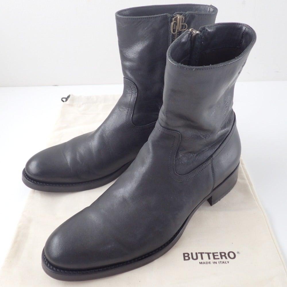 BUTTERO ブッテロ B825 サイドジップブーツ 42 ブラック レザーの買取実績です。
