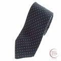 Tie Your Tie【タイユアタイ】小紋柄 ネイビー シルクネクタイ