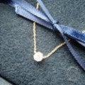 AHKAHアーカー vivian couture VC0196010100 K18YG/0.15ctダイヤモンド ソルティアラウンドネックレスの買取実績です。