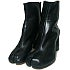 メゾンマルジェラ 黒 レザー ヒール 足袋ブーツの買取強化例です。