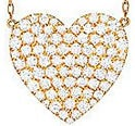 アーカー vivian couture K18YGダイヤモンド0.7ct ハートパヴェグランネックレス