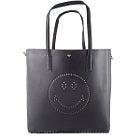 美品 Anya Hindmarch ブラックパンチングレザー スマイリートートバッグの買取強化例です。