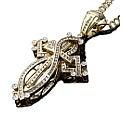 アヴァランチ<br>14K ゴールドダイヤモンド<br>クロス ペンダントヘッド