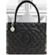 シャネル(CHANEL) 復刻トート 黒 キャビアスキン SV金具の買取強化例です。