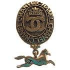 CHANEL 80年代ヴィンテージ ココマーク×ホースモチーフ 馬ブローチ 中古品の買取強化例です。