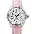 シャネル  J12 H1337 ピンクサファイアベゼル 時計 中古品の買取強化例です。