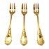 クリストフル(Christofle) ゴールド マルリーケーキフォーク3本セットの買取強化例です。