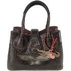 チビナイル(Civinile) シャルロット マットクロコ ハンドバッグの買取強化例です。