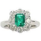 pt950 ライトグリーンエメラルドリング1,2ct ダイヤモンド1.05ctの買取強化例です。