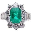 pt950 エメラルド3.12ct ダイヤモンドリング1.3ctの買取強化例です。