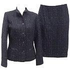 美品 エポカ 黒 ラメ ツイード ジャケット&スカート セットアップ の買取強化例です。