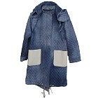 フェンディ デニム エファクト フーテッド コート 美品の買取強化例です。