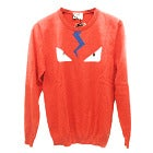 フェンディ 赤 カシミア モンスター クルーネック ニットセーターの買取強化例です。
