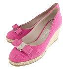 ヴァラ 美品 ピンク エスパドリーユウェッジソール リボンパンプスの買取強化例です。