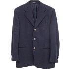 フェラガモ 美品 ネイビー ウール 3B シングルテーラード メンズジャケットの買取強化例です。