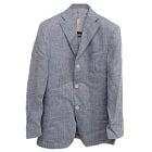 フェラガモ 美品 国内正規 グレー リネン 3Bシングル ジャケットの買取強化例です。