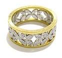 ハム(Hum)<br>pt850 ダイヤモンド<br>デザインリング