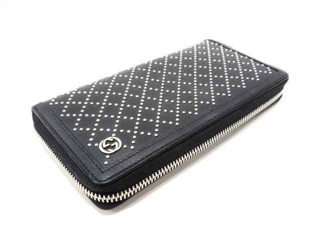 グッチ 未使用 黒 302081 ディアマンテ スタッズ付きジッピーウォレットの買取強化例です。