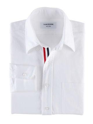 トムブラウン ホワイト トリコロールテープ 長袖 コットン ドレスシャツ 状態:通常中古品の買取強化例です。