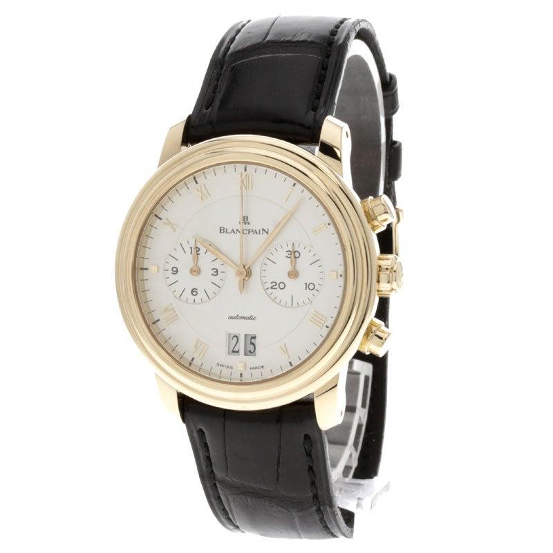 ブランパン6850-3642-55 K18 ヴィルレダブルウインド クロノグラフ 自動巻き時計 未使用の買取強化例です。