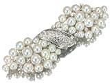 ミキモト K18WG アコヤ真珠 38珠 ダイヤモンド デザイン ブローチ 現品のみ 美品の買取強化例です。