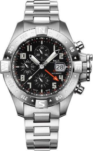 ボールウォッチ 黒文字盤 ハイドロカーボン スペースマスター GMT2 チタン 腕時計 美品の買取強化例です。