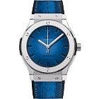 ウブロ クラシック・フュージョン ベルルッティ スクリット オーシャンブルー  腕時計の買取強化例です。