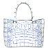 イビザ(IBIZA) ホワイト ワニ革 ハンドバッグ 美品の買取強化例です。