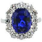 サファイア 6.8ct スリランカ産 メレダイヤ 2.00ct  リングの買取強化例です。