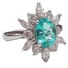 鑑別書付ブラジル産パライバトリマリン2.44ct メレダイヤリング2.00ct 指輪の買取強化例です。