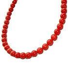 状態良好 血赤珊瑚グラデーション数珠ネックレス 8mm~10mm 鑑別書付の買取強化例です。