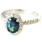 pt850 アレキサンドライト1.2ct メレダイヤモンド0.44ct 中央宝石鑑別付の買取強化例です。
