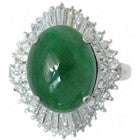 pt950 翡翠8.22ct テーパーダイヤ0.88 指輪の買取強化例です。