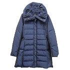 美品 LANVIN ネイビーショールカラー レディースロングダウンコートの買取強化例です。