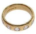 マルコムベッツ K22 5Pダイヤモンド ハンマリング リング/指輪