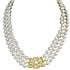 ミキモト 留め具 K18WG 3連パール×ダイヤモンド ネックレス 付属品有 美品の買取強化例です。
