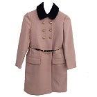 MIUMIU チェーンベルト付シープファー襟 金釦 ロングコート 美品の買取強化例です。
