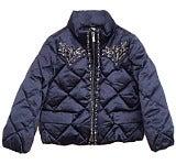 ミュウミュウ MIUMIU ビジュー装飾 ダウンジャケット 未使用品
